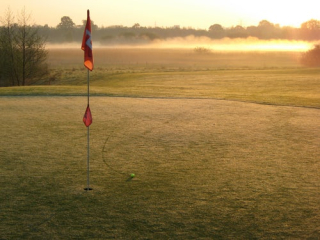 Red flag on golf course