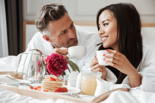Couple at hotel