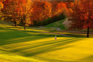 Golf course in fall