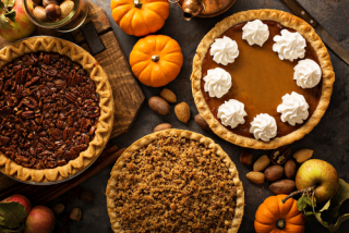 Assorted fall pies